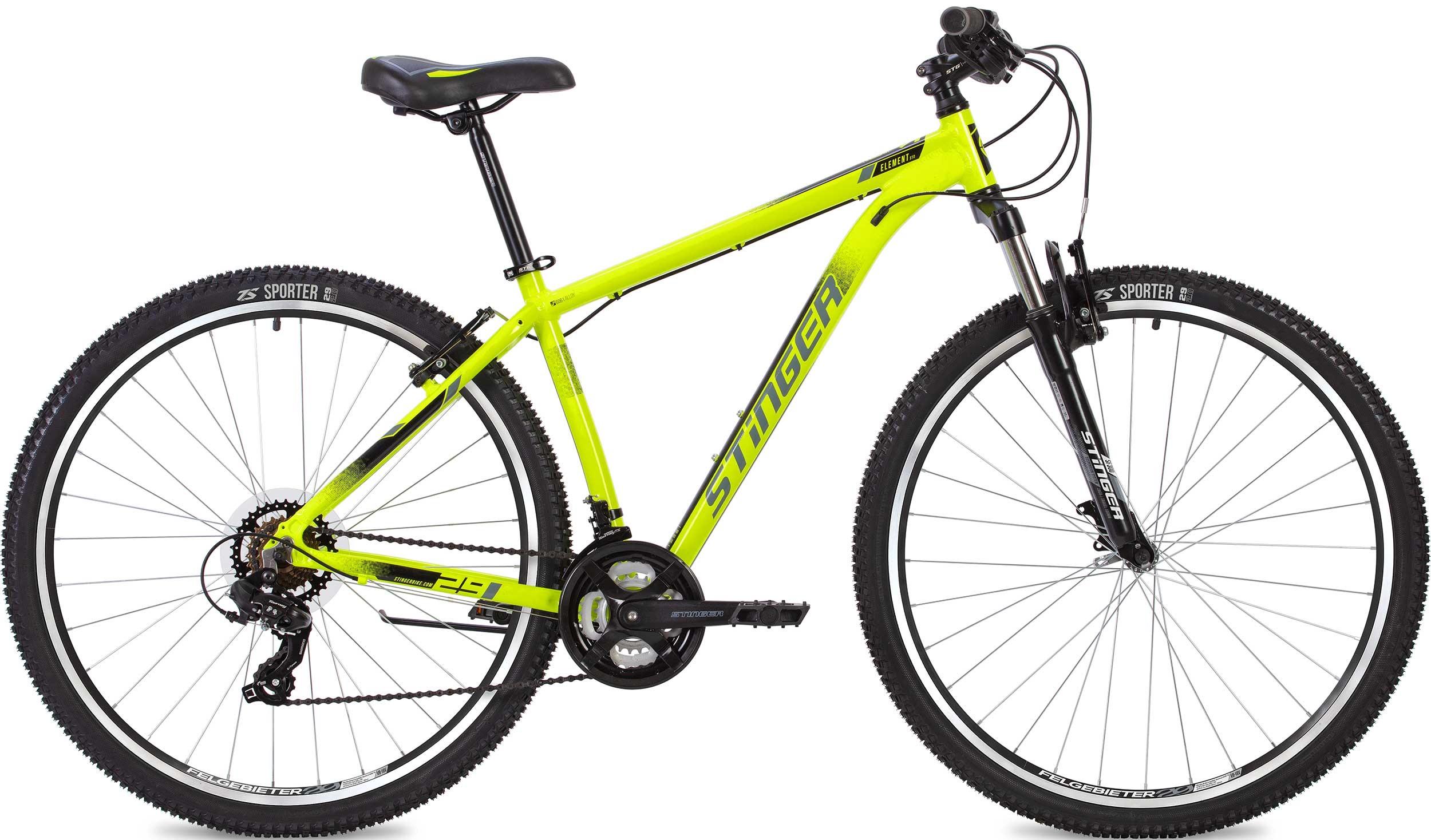 """Велосипед Stinger Element STD 26 (2020) зеленый 26""""/18"""""""