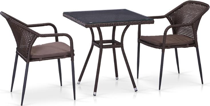 Комплект мебели Афина-Мебель T282BNT/Y35B-W2390 2Pcs коричневый