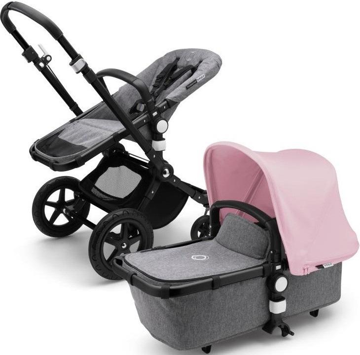 Коляска Bugaboo Cameleon 3 Plus 2в1 Black/Grey Melange/Soft Pink