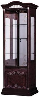 Витрина Интердизайн Роза 37.103.Mh темно-коричневый/темно-коричневый 2090x755x530 см (правая)