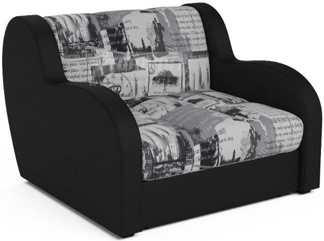 Кресло-кровать Столплит Боро газета 104x96x83 мм