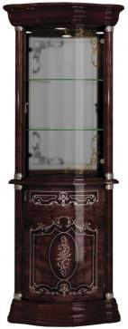 Витрина Интердизайн Роза 37.106.01.Mh темно-коричневый/темно-коричневый 2084x556x556 см (правая)