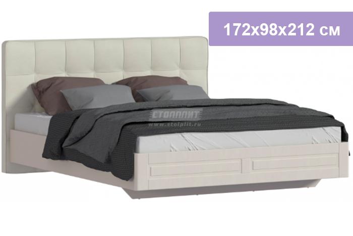 Двуспальная кровать Столплит Сити СБ-2938 бежевый песок/кофе 172x98x212 см
