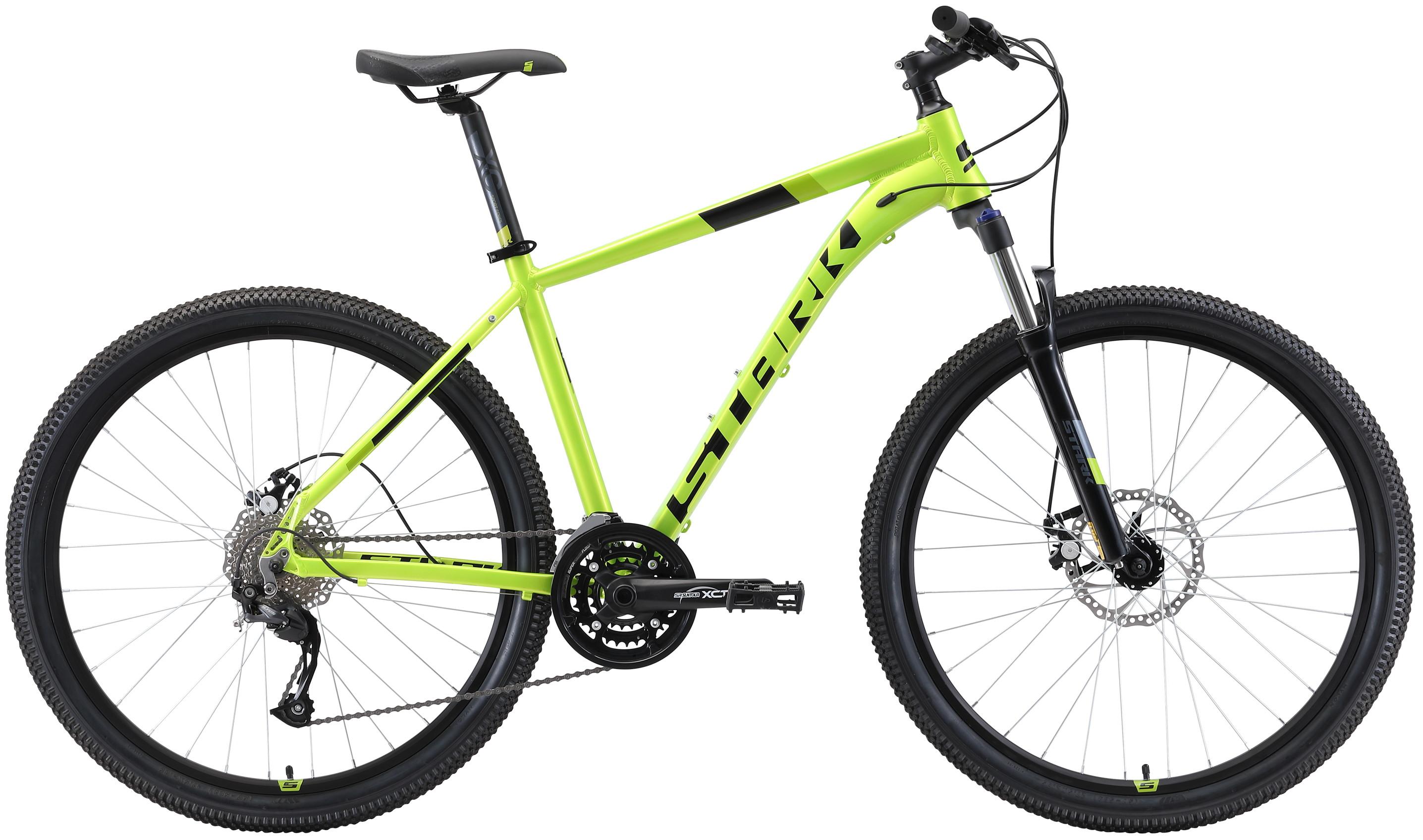 """Велосипед Stark Router 27.4 D (2019) зеленый/черный 27.5""""/20"""""""