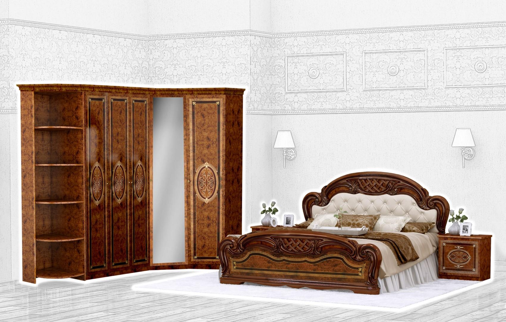 Спальня Интердизайн Лара коричневый/коричневый (композиция 4)