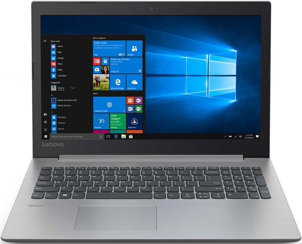 "Ноутбук Lenovo IdeaPad 330-15AST 15,6""/2,3GHz/4Gb/256GbSSD/DOS Grey"