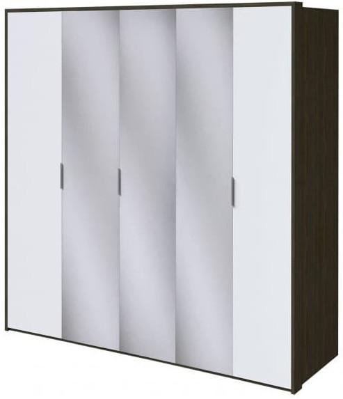 Шкаф Интердизайн Тоскано ясень темный/белый 2209x2320x599 см (с зеркалами)
