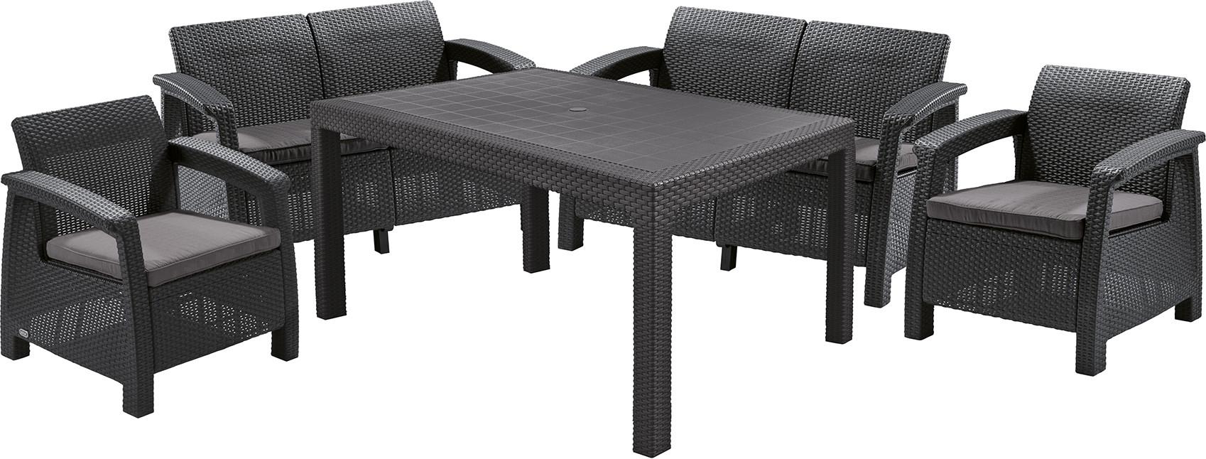Комплект мебели Allibert Corfu Fiesta графитовый/серый