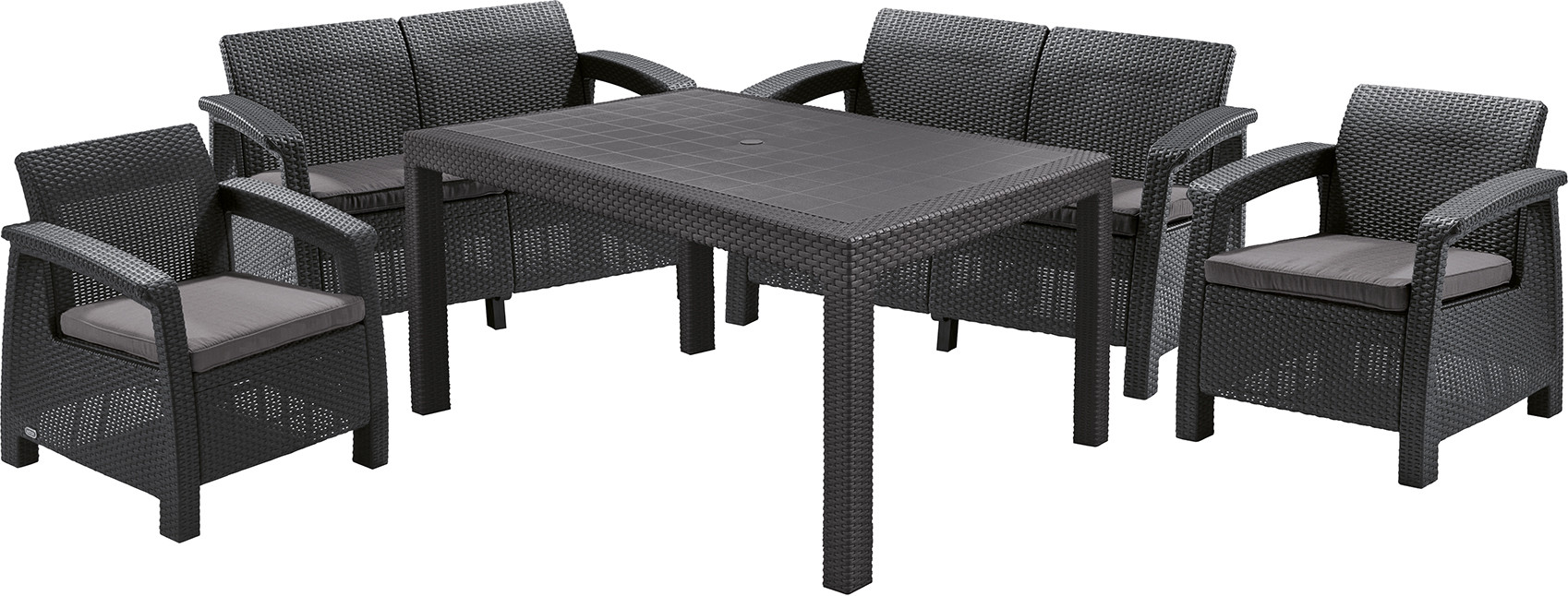Комплект мебели Allibert Corfu Fiesta Set Graphite Grey