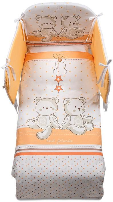 Постельное белье Italbaby Amici бело-оранжевый