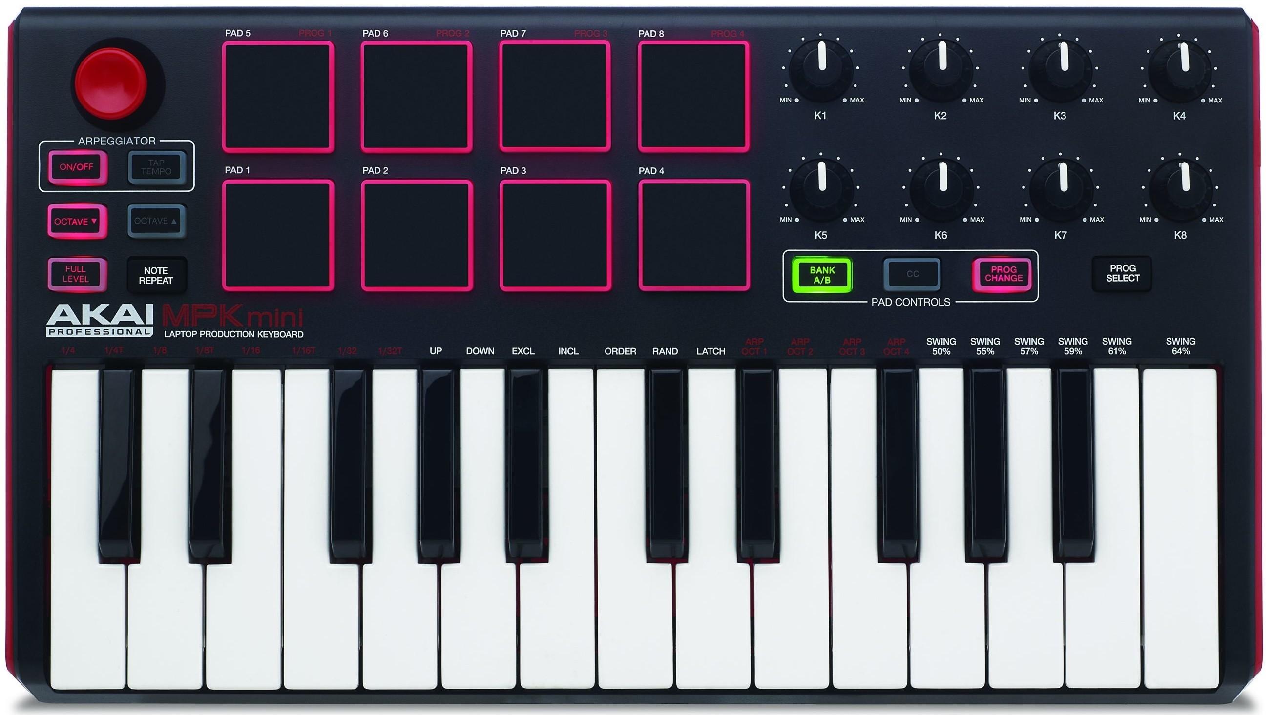 Миди-клавиатура Akai Pro MPK Mini MK2 USB