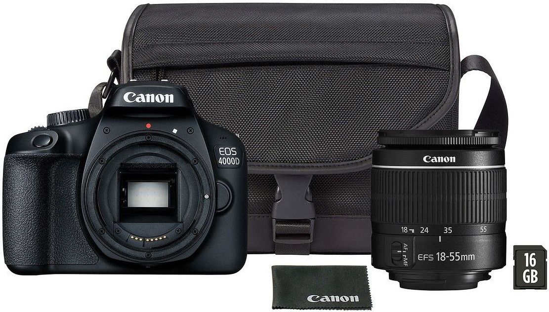 Фотоаппарат Canon EOS 4000D Travel Kit EF-S 18-55mm III + Сумка SB130 + Карта памяти 16Gb
