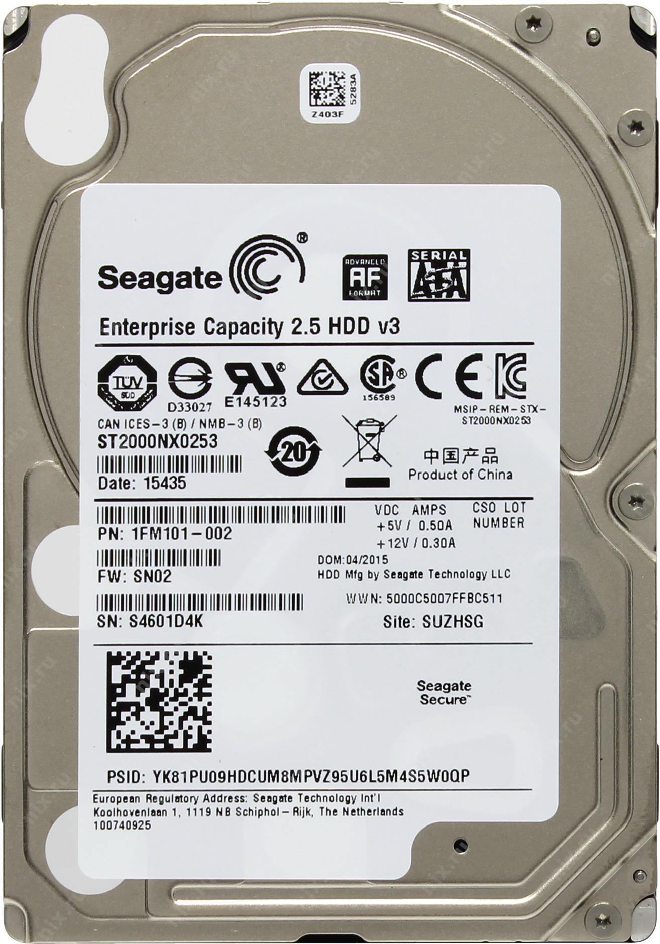 Жесткий диск Seagate Enterprise Capacit…