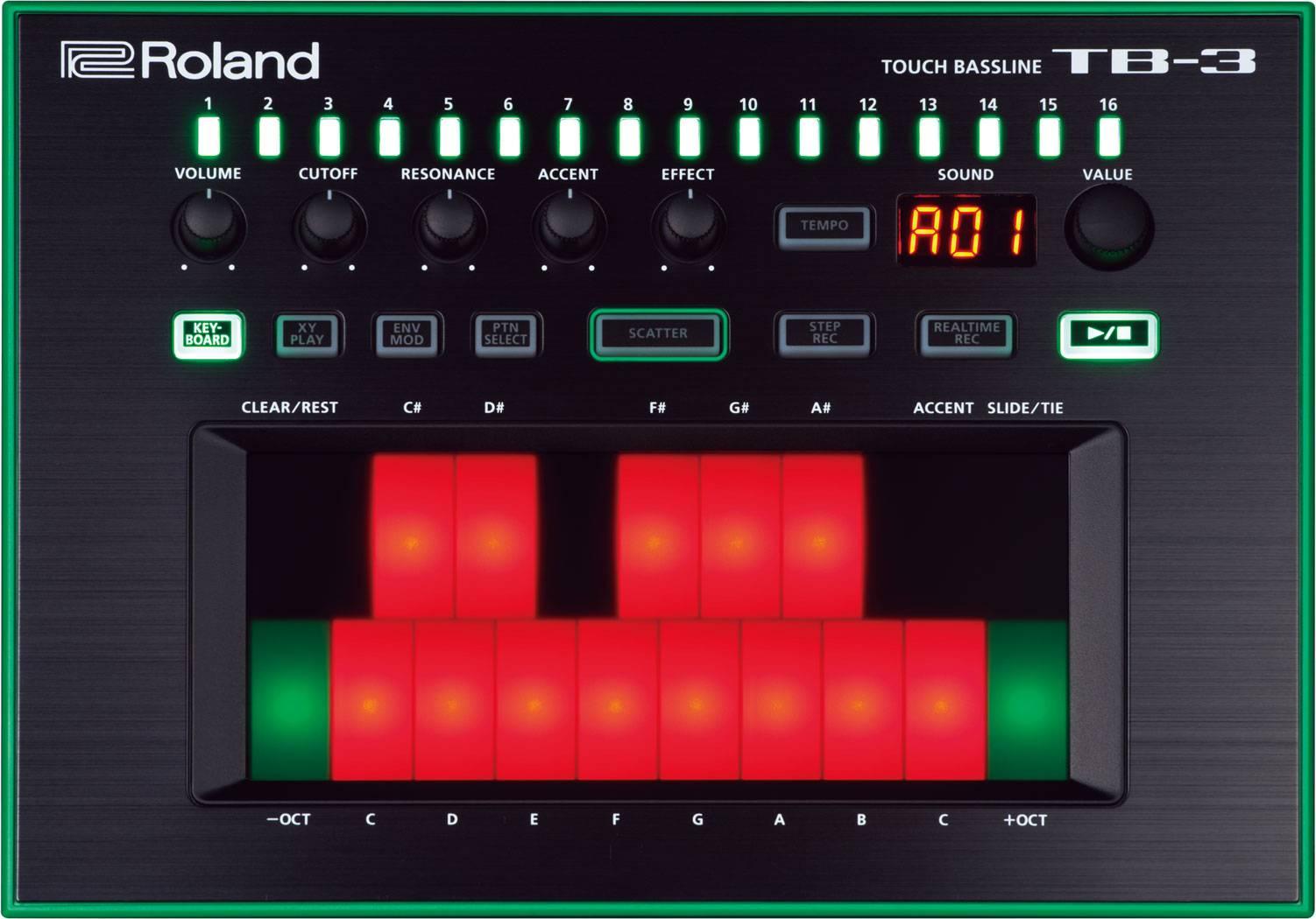 Dj-синтезатор Roland Aira TB-3