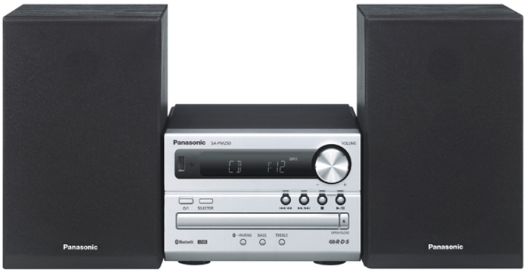 Музыкальный центр Panasonic SC-PM250EE Silver