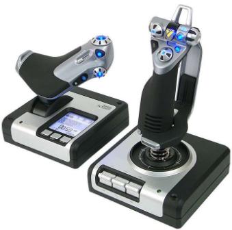 Logitech G Saitek X52 Professional Flight Control System Black/Silver