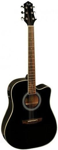 Акустическая гитара Flight AD-200 CEQ BK