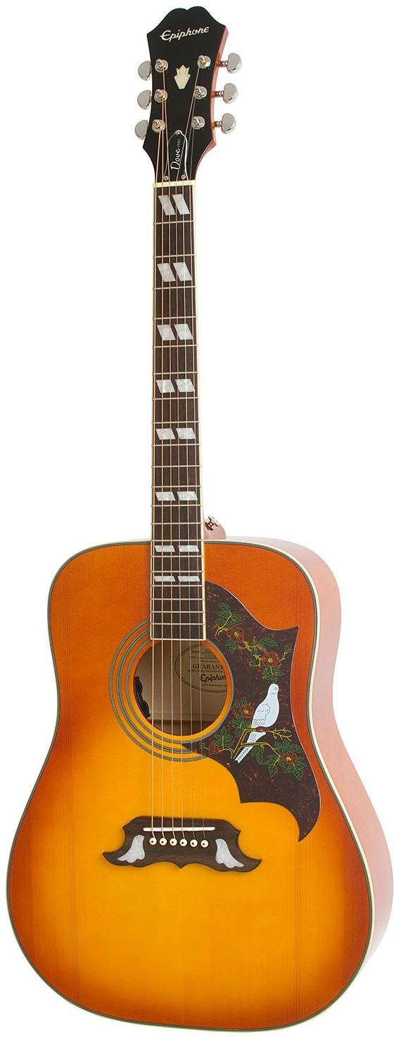 Акустическая гитара Epiphone Dove Pro Acoustic/Electric W/Fishman Vintage Brown Sunburst