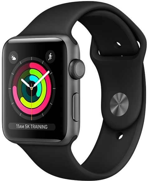 Умные часы Apple Watch Series 3 42mm MQL12 Space Grey/Black