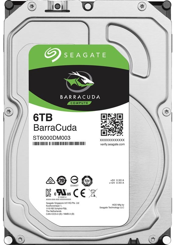 Seagate BarraCuda 6Tb/HDD/3.5""