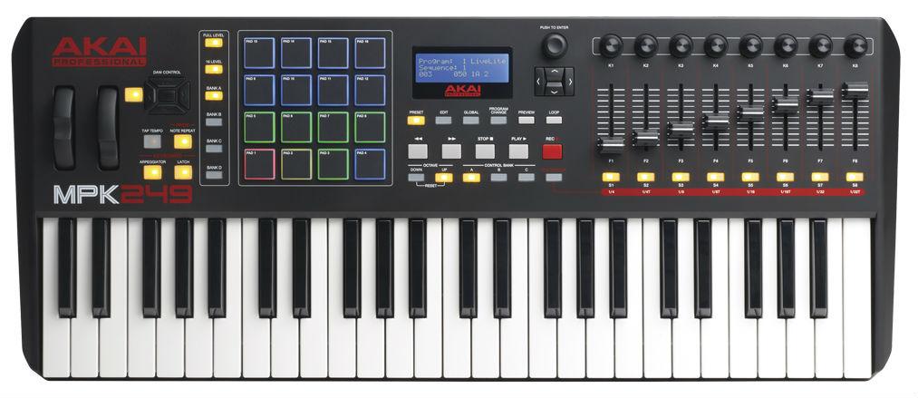Миди-клавиатура Akai Pro MPK249 USB
