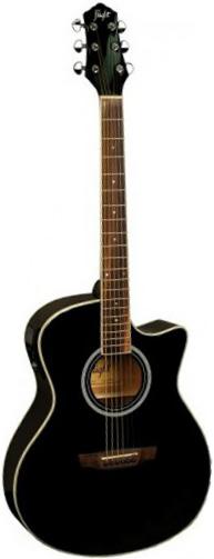 Акустическая гитара Flight AG-210 CEQ BK