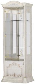 Витрина Интердизайн Роза 37.102.Bi бежевый/бежевый 2090x755x530 см (левая)