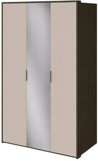 Шкаф Интердизайн Тоскано ясень темный/капучино 2209x1420x599 см (с зеркалом)