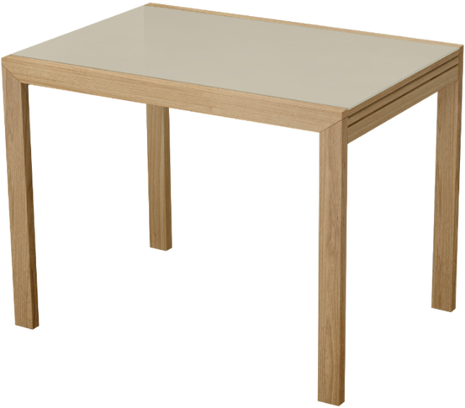 Кухонный стол Интердизайн 60.213.BC светло-коричневый/коричневый 76x200x70 см