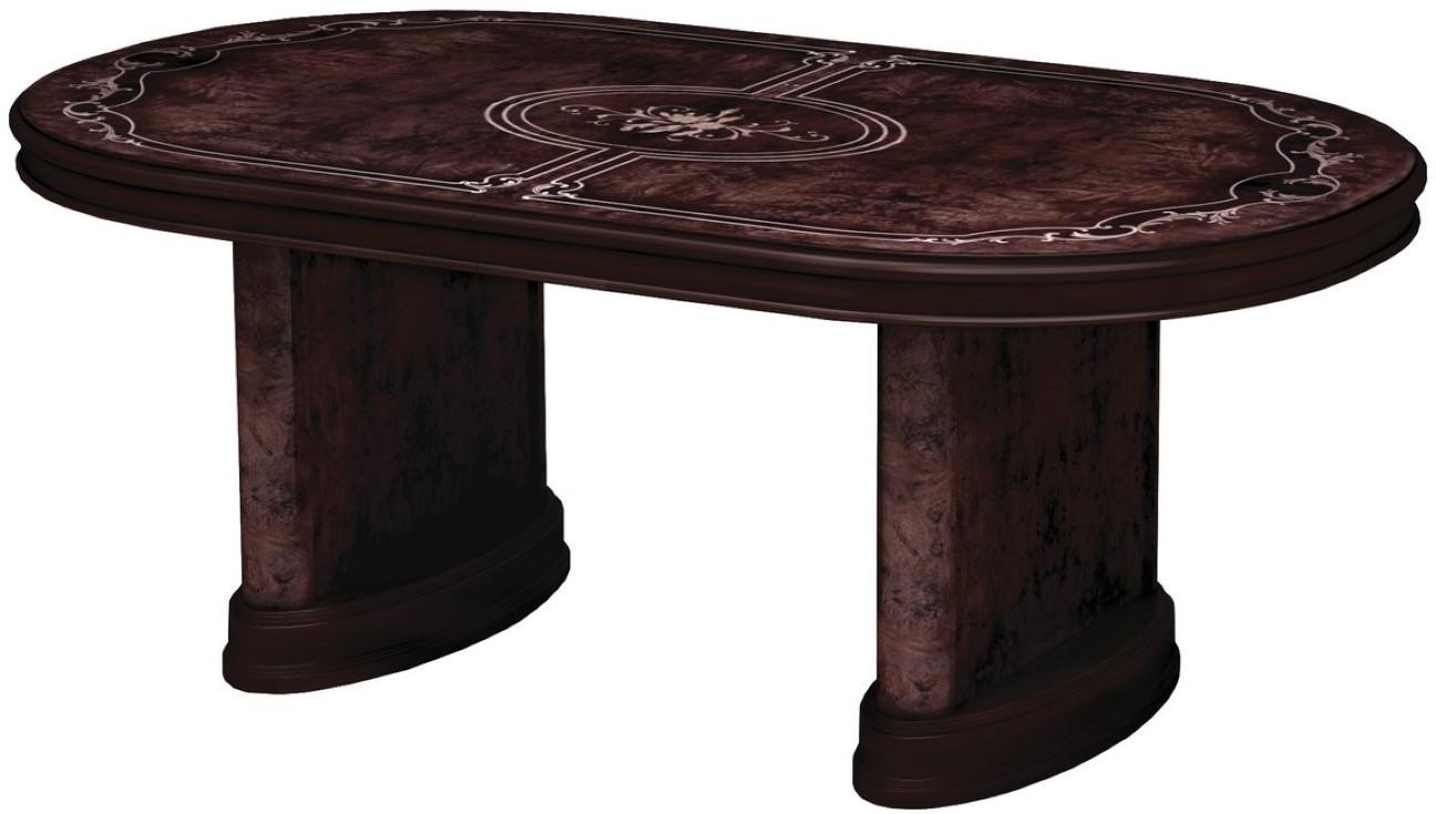 Кухонный стол Интердизайн Роза темно-коричневый/темно-коричневый 760x2320x1040 см