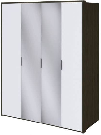 Шкаф Интердизайн Тоскано ясень темный/белый 2209x1868x599 см (с зеркалами)