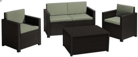 Комплект мебели Allibert Monaco коричневый