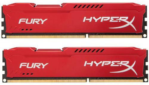 Память Kingston HyperX Fury DIMM DDR3 2x8Gb 1333MHz Red