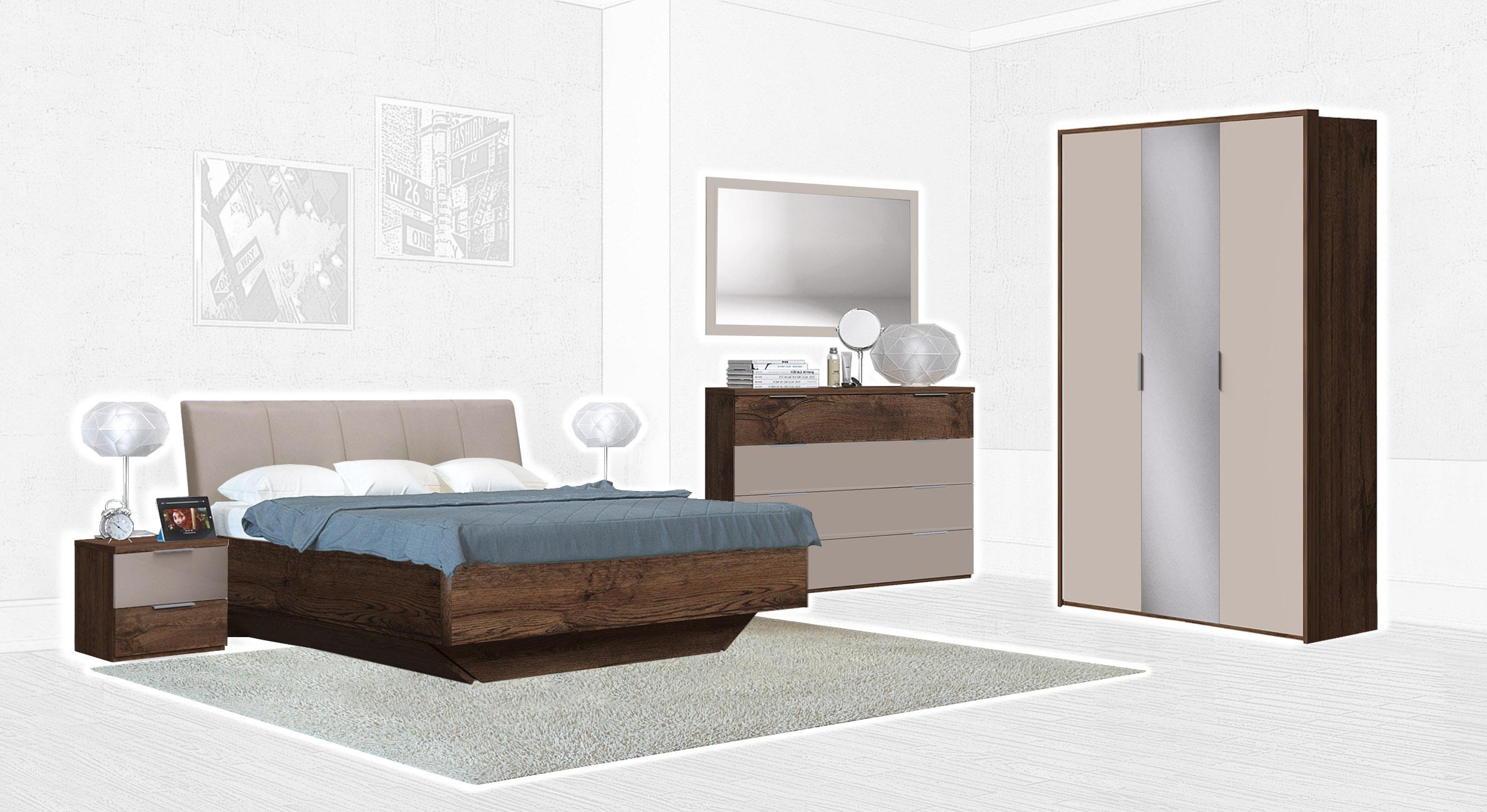 Спальня Интердизайн Тоскано дуб эйприл/капучино (композиция 3)