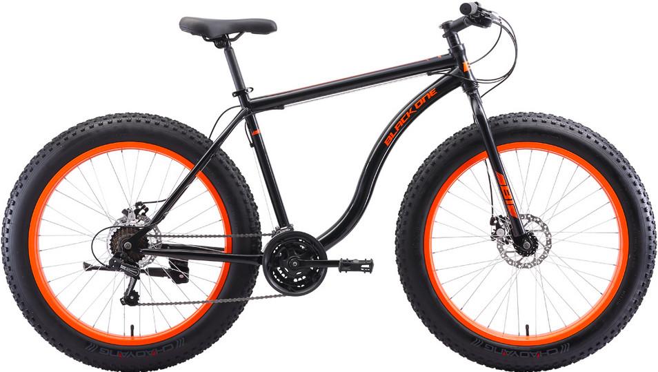 """Велосипед Black One Monster 26 D (2020) чёрный/оранжевый 26""""/18"""""""