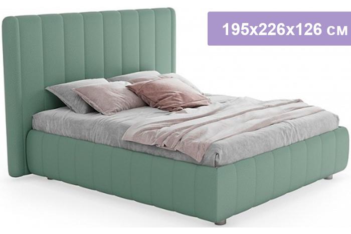 Двуспальная кровать Цвет Диванов Наоми мятный 195x226x126 см (подъемный механизм)
