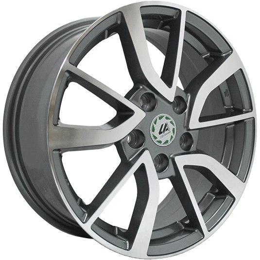 """Комплект дисков Top Driver SK11-S 7jx17"""" 5/112 ET49 D57,1 GMF/насыщенный темно-серый полностью полированный"""