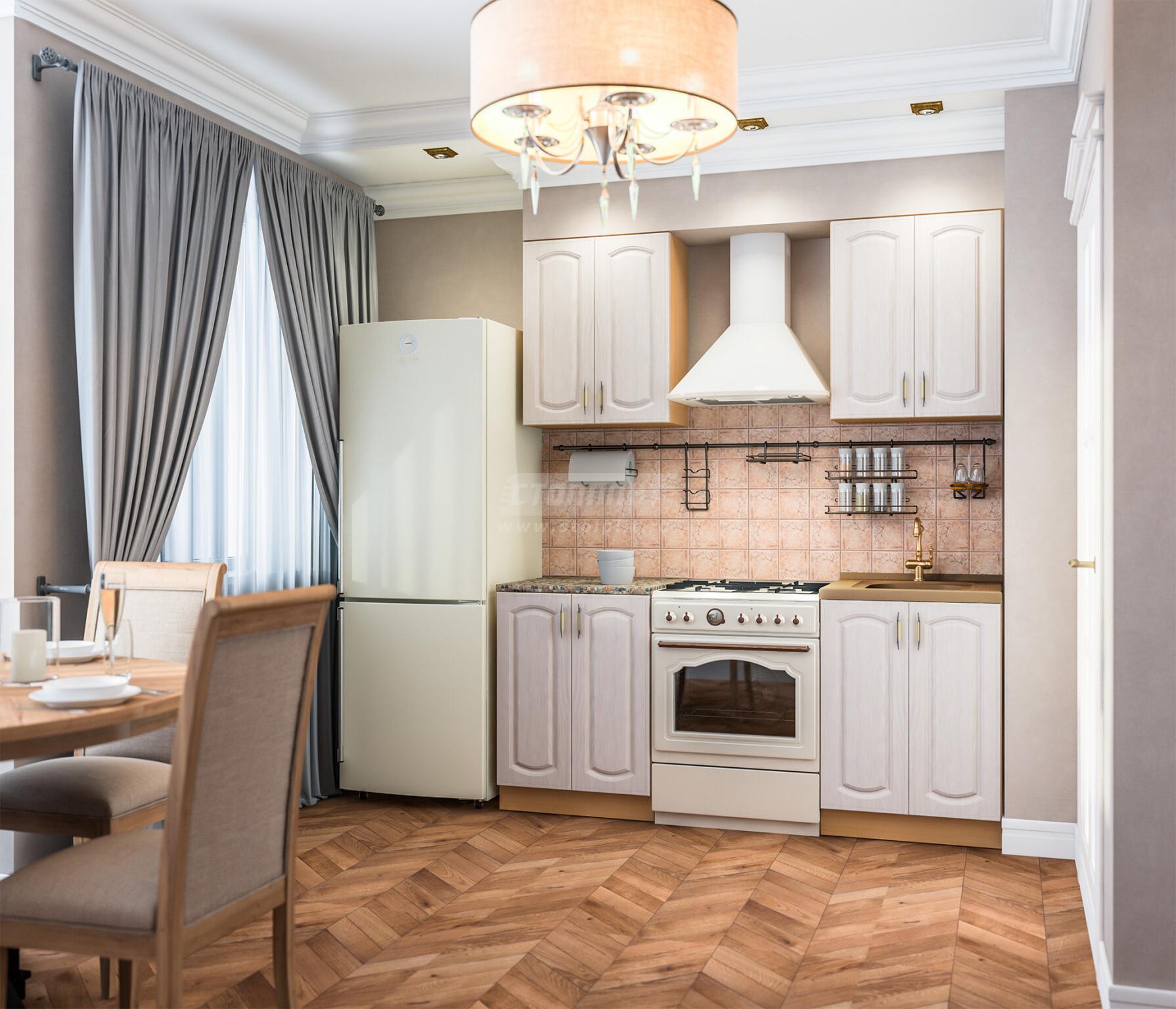 Кухня Столплит Оля береза 120x214x60 см