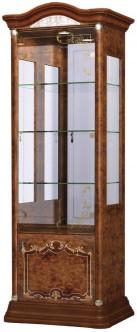 Витрина Интердизайн Роза 37.102.O коричневый/коричневый 2090x755x530 см (левая)