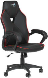 Игровое кресло AerocCool AC50C AIR черный/красный