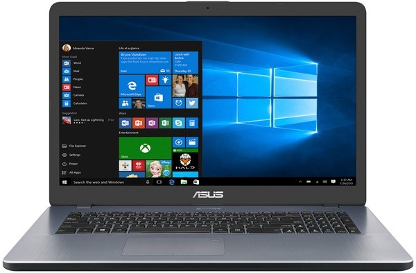 "Ноутбук Asus Vivobook X705UB-BX097T 17,3""/2GHz/6Gb/1Tb/GeForce MX110/W10 Grey"