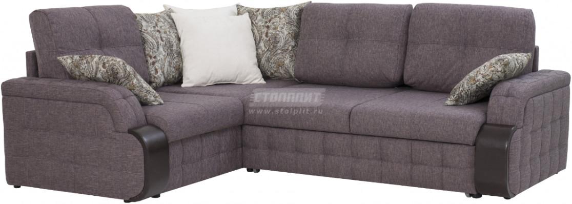 Диван-кровать Столплит Антей ДУ угловой серый 247x183x91 см