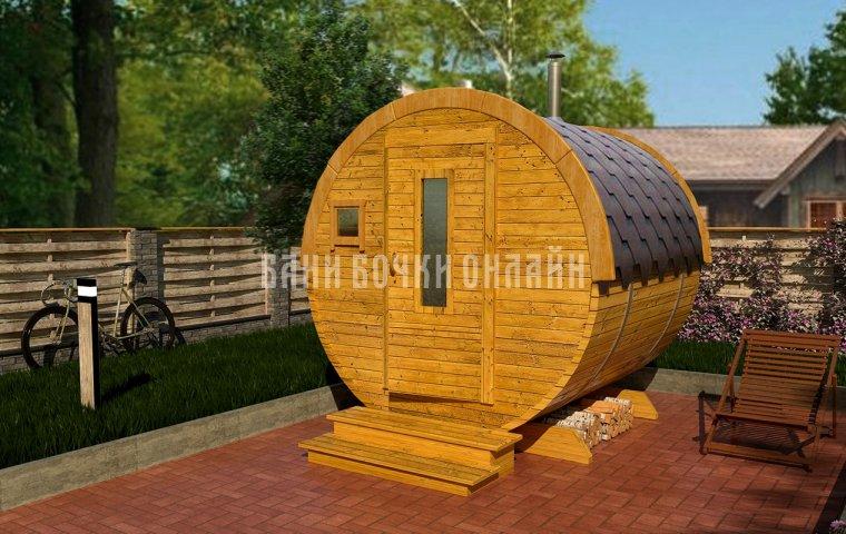 Баня-бочка «Мини» 210x200 см