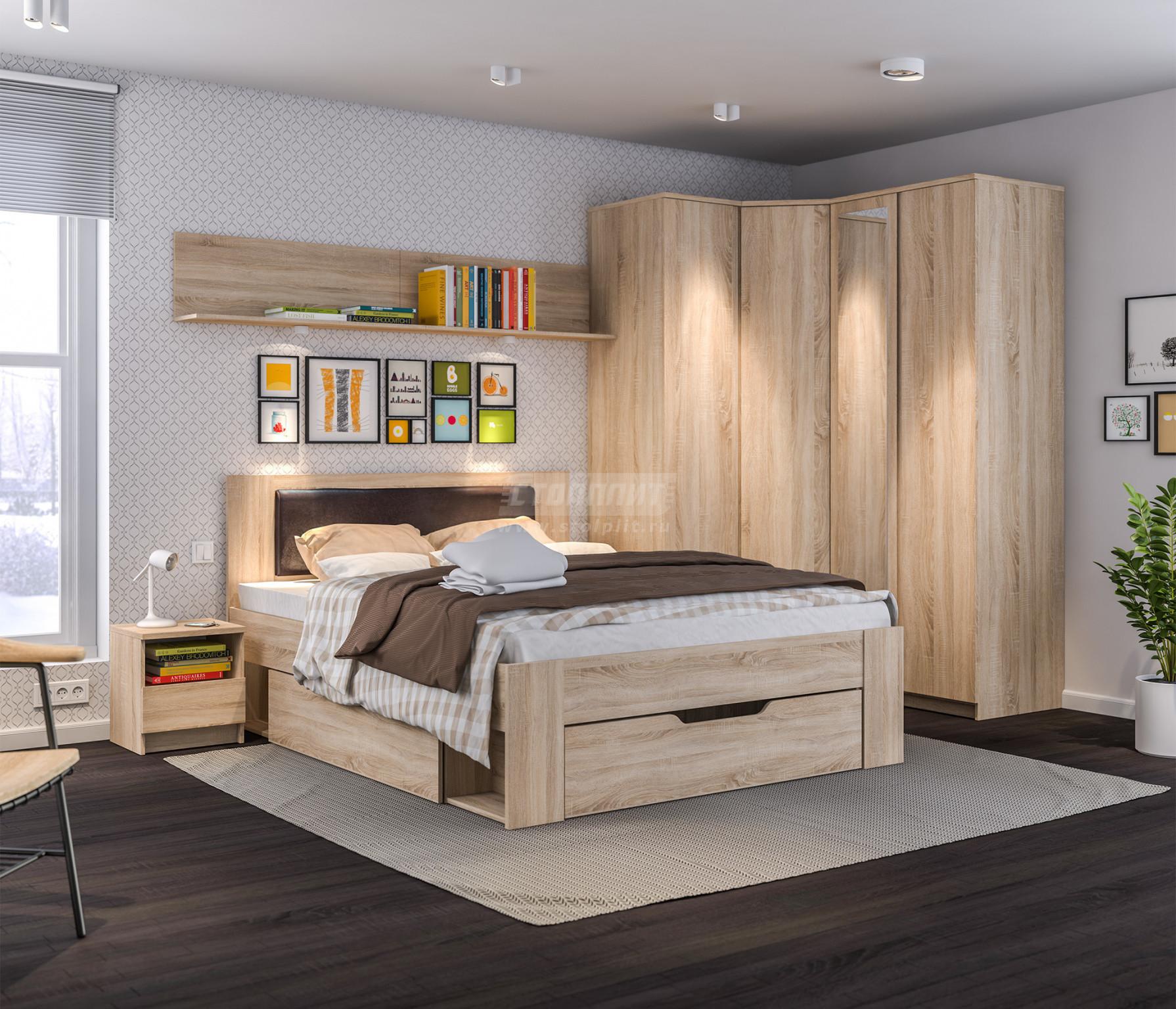 Спальня Столплит Веста 123-240-000-0183 дуб сонома