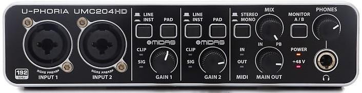 Сетевой аудиоинтерфейс Behringer U-Phoria UMC204HD
