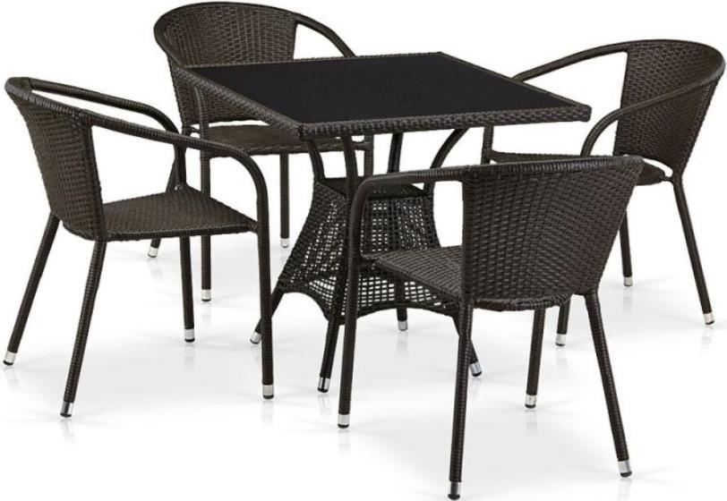 Комплект мебели Афина-Мебель T197BNS/Y137C-W53 коричневый
