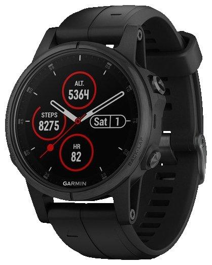 Умные часы Garmin Fenix 5S Plus Sapphire 42mm Black/Black