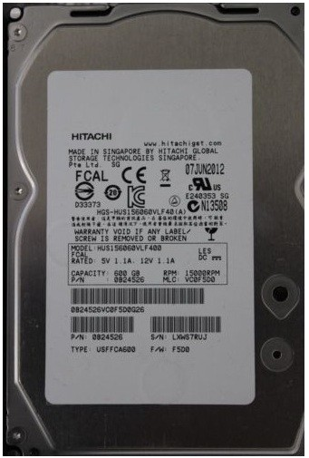 "HGST Ultrastar 15K600 600Gb/HDD/3.5""/SAS"