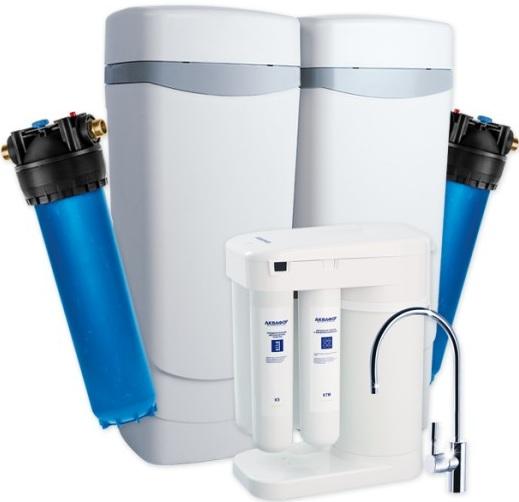 Комплект водоочистки Аквафор WaterMax MXQ + Гросс + Морион + соль