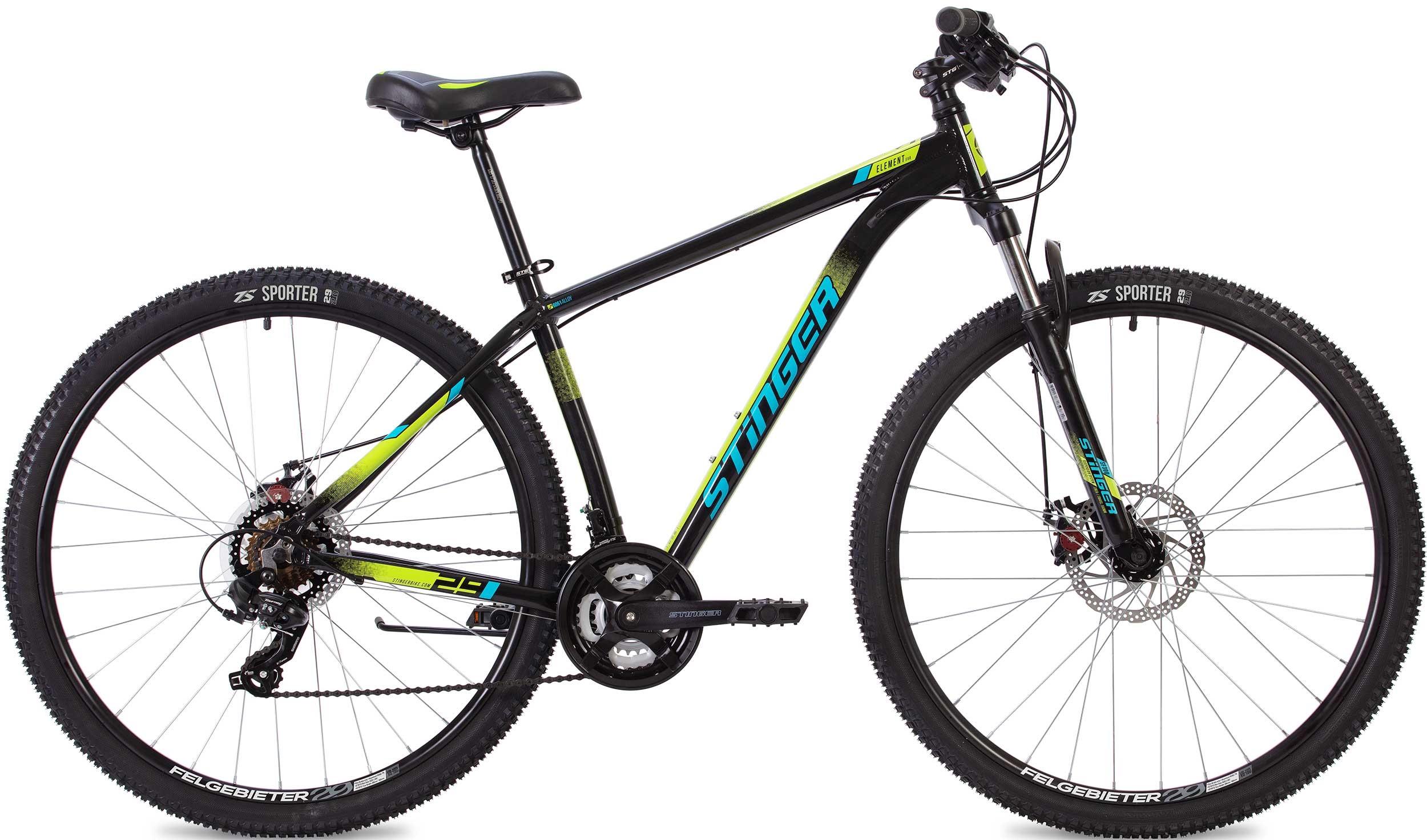"""Велосипед Stinger Element Evo 29 (2020) черный 29""""/22"""""""